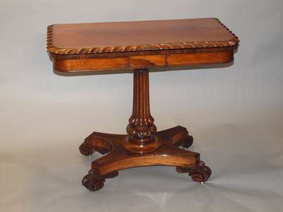 Rosewood card table