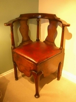 walnut corner chair